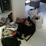 How our luggage was left for us to come back to