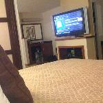 Flat Screen TV from the bed