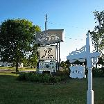 Plaza Motor Motel sign out front