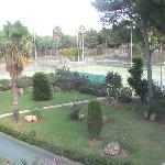 View of tennis courts from our room