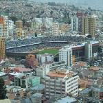 estadio Sili desde el mirador Kili kili