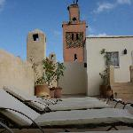 the minaret with the storks nest overlooking the terrace