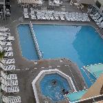 hot tub and pool with separate kiddie pool