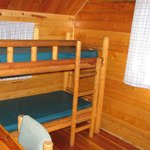 Back room of two bedroom cabin, bunks