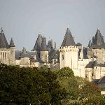 The view of the Chateau de Saumur from our bathroom window.