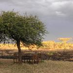 A few tables and chairs to have a rest after a days safari