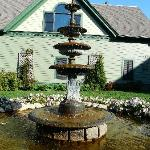Fountain in the side garden
