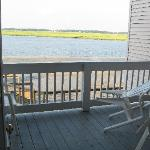 View out towards deck