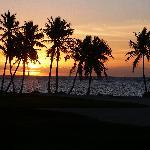 lever du soleil vu du golf