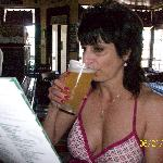 Sipping a pint of Oak Creek while deciding on lunch