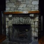 Stone Fireplace in Standard Cabin