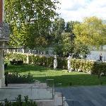 entrada y lago