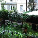 garden for a breakfast
