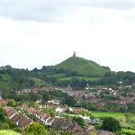 Glastonbury Tor seen from Roman Road Hill
