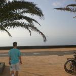 Beach, 5 min walk