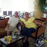 Me & hubby on the day we were leaving