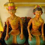 Traditional statues that greets you in front