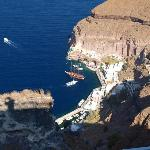 Old Port of Fira from hotel  Balcony