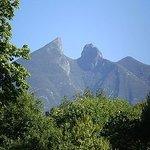 Le Cerro de la silla , symbole de la ville de Monterrey