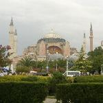 Hagia Sophia - minutes walk away...