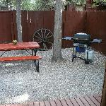 Grill and Picnic Table Right Outside