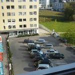 View from room (hotel carpark)