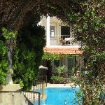 View of pool from breakfast terrace