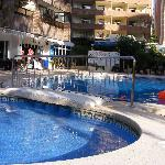 Levante Beach Apartments swimming pool reverse view