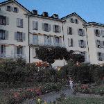 The hotel from the ktichen garden