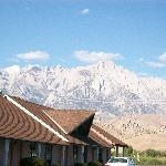 View of Mt. Whitney and eastern Sierras mountains