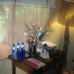 Fresh flowers in our room