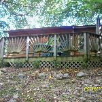 View of back deck from the brook