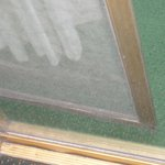 Broken patio door