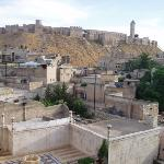 The view from the roof garden restaurant at the  Beit Salahiel Hotel in central Aleppo.