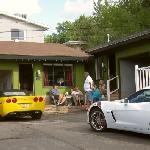 The Motor Lodge a perfect setting for our Corvettes