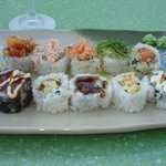 10 different sushi pieces-sampler