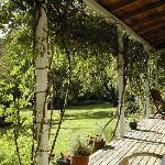 Lovely verandah at Mill Cottage