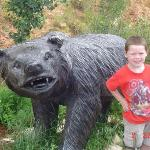Hunter B & bear hanging out