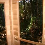 Infra-red sauna with a creek view