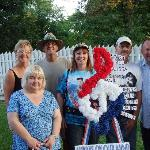 All guests (now friends) club together to buy Elvis flowers