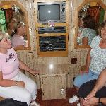 On Elvis TCB Tour Bus - not yet open to public - courtesy of Jenny and Glen's friends
