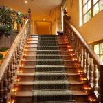 Escalier éclairé à la bougie du plus belle effet