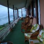The Balcony behind the rooms