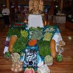 Carved Fruit & Veg display in hotel restaraunt