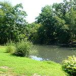 parque que rodea el tramo del tren de cercanías que va de Longwood a Brookline Village