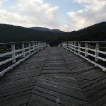 The unique toll bridge at Penmaenpool