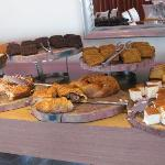 Seection of breads at the buffet of Crowne Plaza