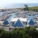 Blick vom Balkon - Yachthafen