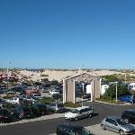 parcheggio e spiaggia