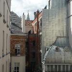 Vista desde la habitación: torre del ayuntamiento.